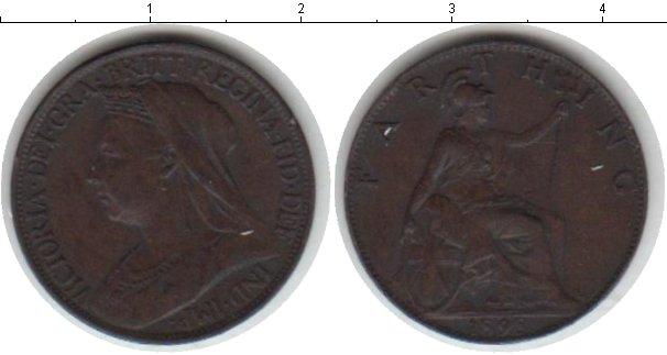 Картинка Монеты Великобритания 1 фартинг Медь 1898