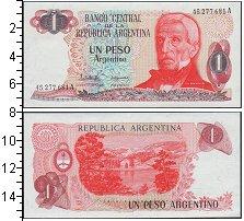 Изображение Банкноты Аргентина 1 песо 0  UNC- Портрет Генерала Хос