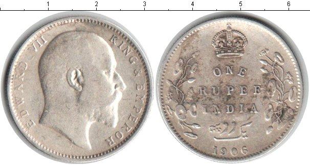 Картинка Монеты Индия 1 рупия Серебро 1906