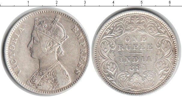 Картинка Монеты Индия 1 рупия Серебро 1891