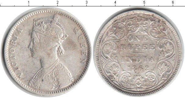 Картинка Монеты Индия 1 рупия Серебро 1862