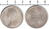 Изображение Монеты Индия 1 рупия 1874 Серебро  Виктория