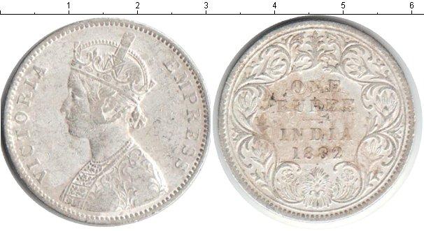 Картинка Монеты Индия 1 рупия Серебро 1882