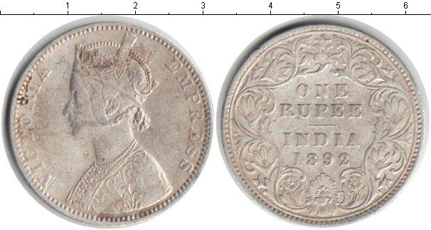 Картинка Монеты Индия 1 рупия Серебро 1892