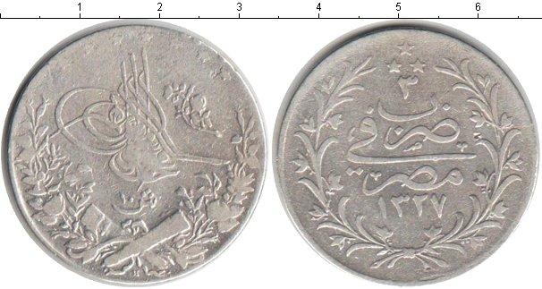 Картинка Монеты Египет 10 кирш Серебро 1911