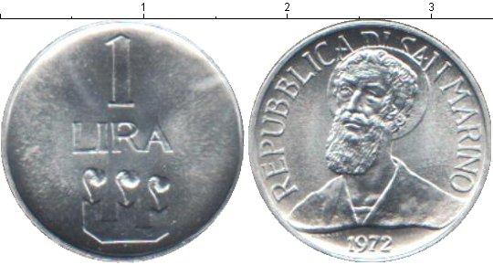 Картинка Мелочь Сан-Марино 1 лира Алюминий 1972