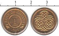 Изображение Мелочь Гайана 1 цент 1988 Медь XF