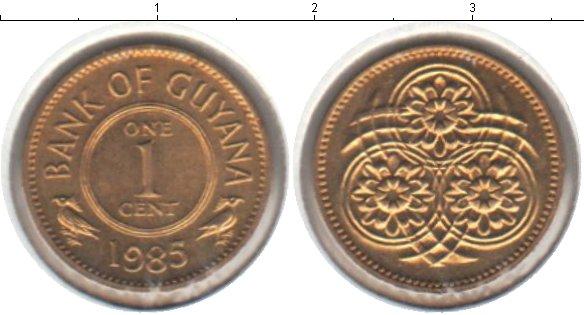 Картинка Мелочь Гайана 1 цент Медь 1988