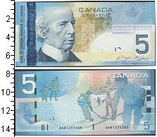Изображение Боны Канада 5 долларов 2006  UNC- хоккей