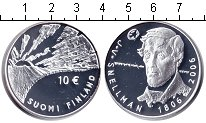 Изображение Монеты Финляндия 10 евро 2007 Серебро Proof- Снельман