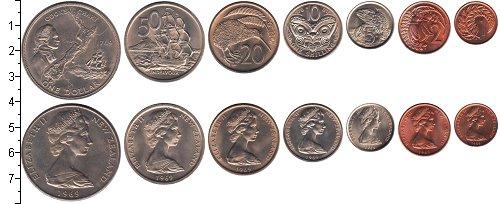 Изображение Наборы монет Новая Зеландия Новая Зеландия 1969 1969  UNC- В наборе 7 монет ном