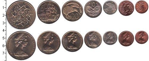 Изображение Наборы монет Новая Зеландия Новая Зеландия 1974 1974  UNC- В наборе 7 монет ном