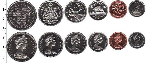Изображение Наборы монет Канада Канада 1971 1971  UNC В наборе 6 монет ном