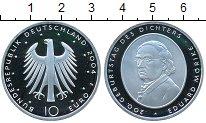 Изображение Монеты Германия 10 евро 2004 Серебро Proof- Эдуард Морик
