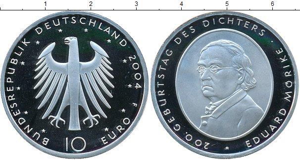 Картинка Монеты Германия 10 евро Серебро 2004