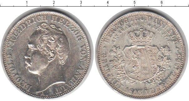Картинка Монеты Анхальт-Дессау 1 талер Серебро 1863
