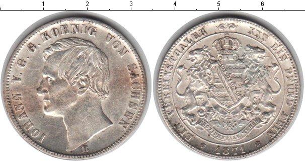 Картинка Монеты Саксония 1 талер Серебро 1871
