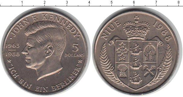 Картинка Монеты Ниуэ 5 долларов Медно-никель 1988