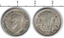 Изображение Монеты Австралия 3 пенса 1951 Серебро XF