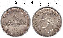 Изображение Монеты Канада 1 доллар 1952 Серебро XF Георг VI