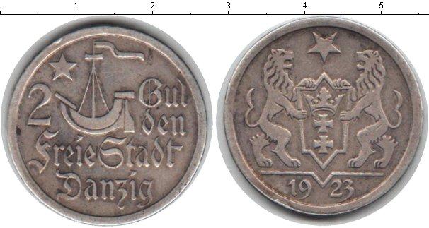 Картинка Монеты Данциг 1/2 гульдена Серебро 1923