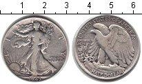 Изображение Монеты США 1/2 доллара 1943 Серебро XF