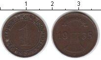Изображение Монеты Веймарская республика 1 пфенниг 1935 Медь XF Е