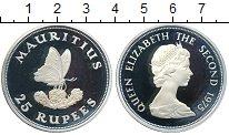 Изображение Монеты Маврикий 25 рупий 1975 Серебро Proof-