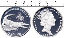 Изображение Монеты Соломоновы острова 10 долларов 1992 Серебро Proof Защита дикой природы