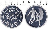 Изображение Монеты Греция 10 евро 2004 Серебро Proof- Афины 2004. Футбол