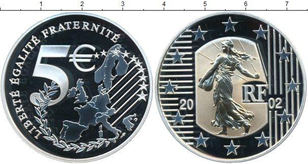 Картинка Монеты Франция 5 евро Серебро 2002
