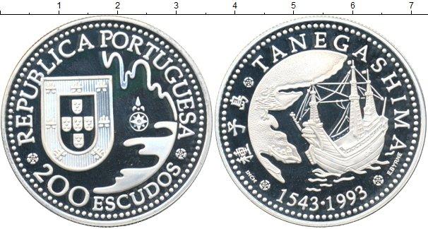 Картинка Монеты Португалия 200 эскудо Серебро 1993