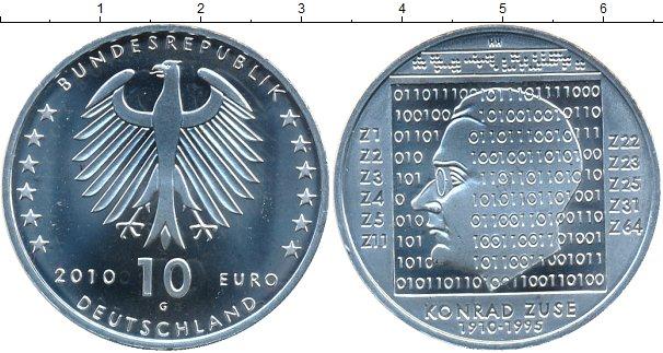 Картинка Монеты Германия 10 евро Серебро 2010