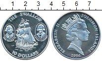 Изображение Монеты Соломоновы острова 10 долларов 1994 Серебро Proof- Елизавета II