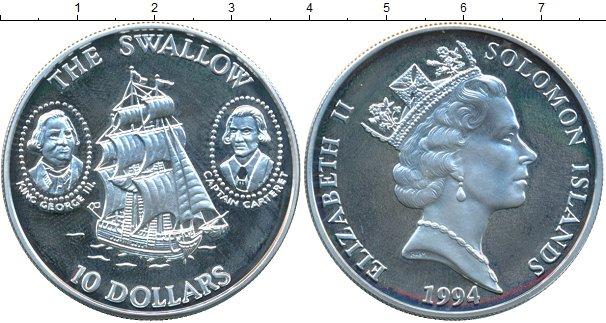 Картинка Монеты Соломоновы острова 10 долларов Серебро 1994