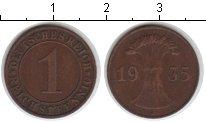Изображение Монеты Веймарская республика 1 пфенниг 1935 Медь XF J