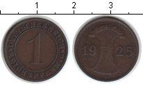 Изображение Монеты Веймарская республика 1 пфенниг 1925 Медь XF Е