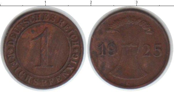 Картинка Монеты Веймарская республика 1 пфенниг Медь 1925