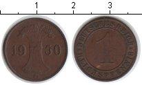 Изображение Монеты Веймарская республика 1 пфенниг 1930 Медь XF С