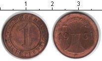 Изображение Монеты Веймарская республика 1 пфенниг 1931 Медь XF F