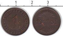 Изображение Монеты Веймарская республика 1 пфенниг 1931 Медь XF А