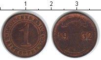 Изображение Монеты Веймарская республика 1 пфенниг 1932 Медь XF А