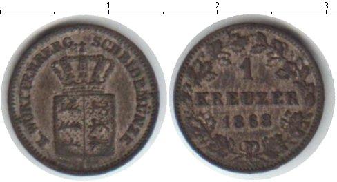 Картинка Монеты Вюртемберг 1 крейцер Серебро 1868