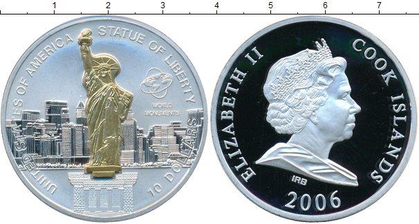 Картинка Монеты Острова Кука 10 долларов Серебро 2006