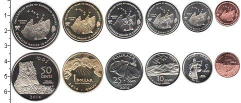 Изображение Наборы монет Резервация Эвиапаяп Резервация Эвиапаяп 2014 2014  UNC В наборе 6 монет ном