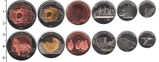 Изображение Наборы монет Остров Буве Остров Буве 2014 2014  UNC- В наборе 6 монет ном