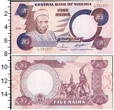 Изображение Банкноты Нигерия 5 найра 2005  UNC-