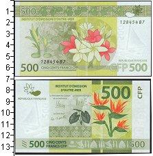 Изображение Боны Полинезия 500 франков 0  UNC- цветы