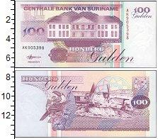 """Изображение Боны Суринам 100 гульденов 1991  UNC- <font face=""""arial, s"""