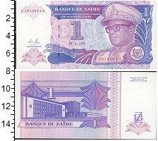 Изображение Банкноты Конго Заир 1 заир 1993  UNC